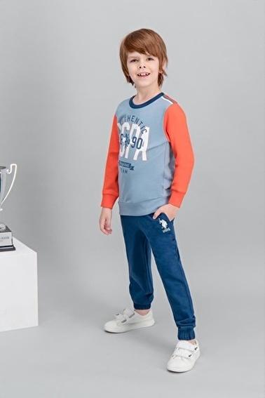 U.S. Polo Assn. U.S. Polo Assn Lisanslı Mavi Erkek Çocuk Eşofman Takımı Mavi